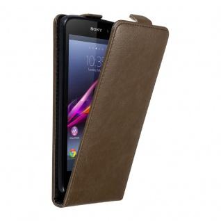 Cadorabo Hülle für Sony Xperia Z1 in KAFFEE BRAUN - Handyhülle im Flip Design mit unsichtbarem Magnetverschluss - Case Cover Schutzhülle Etui Tasche Book Klapp Style