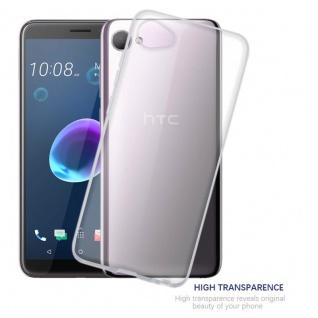 Cadorabo Hülle für HTC Desire 12 in VOLL TRANSPARENT - Handyhülle aus flexiblem TPU Silikon - Silikonhülle Schutzhülle Ultra Slim Soft Back Cover Case Bumper - Vorschau 5