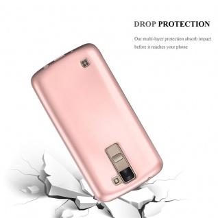 Cadorabo Hülle für LG K8 2016 in METALLIC ROSÉ GOLD - Handyhülle aus flexiblem TPU Silikon - Silikonhülle Schutzhülle Ultra Slim Soft Back Cover Case Bumper - Vorschau 3