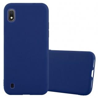 Cadorabo Hülle für Samsung Galaxy A10 in CANDY DUNKEL BLAU Handyhülle aus flexiblem TPU Silikon Silikonhülle Schutzhülle Ultra Slim Soft Back Cover Case Bumper