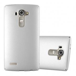 Cadorabo Hülle für LG G4 / G4 PLUS in METALL SILBER Hardcase Handyhülle aus Plastik gegen Kratzer und Stöße Schutzhülle Bumper Ultra Slim Back Case Hard Cover