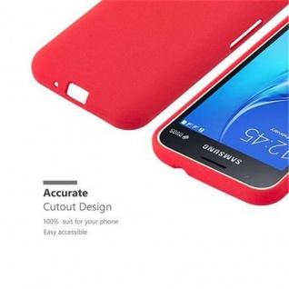 Cadorabo Hülle für Samsung Galaxy J1 MINI 2016 in FROST ROT - Handyhülle aus flexiblem TPU Silikon - Silikonhülle Schutzhülle Ultra Slim Soft Back Cover Case Bumper - Vorschau 3