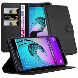 Cadorabo Hülle für Samsung Galaxy A9 2016 in PHANTOM SCHWARZ - Handyhülle mit Magnetverschluss, Standfunktion und Kartenfach - Case Cover Schutzhülle Etui Tasche Book Klapp Style