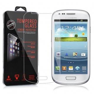 Cadorabo Panzer Folie für Samsung Galaxy S3 MINI - Schutzfolie in KRISTALL KLAR - Gehärtetes (Tempered) Display-Schutzglas in 9H Härte mit 3D Touch Kompatibilität