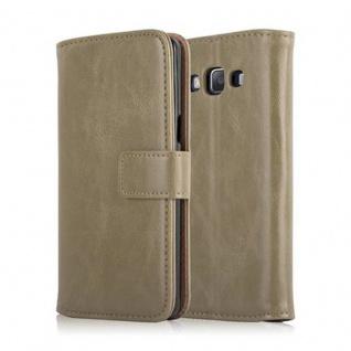 Cadorabo Hülle für Samsung Galaxy A5 2015 in CAPPUCINO BRAUN - Handyhülle mit Magnetverschluss, Standfunktion und Kartenfach - Case Cover Schutzhülle Etui Tasche Book Klapp Style - Vorschau 2