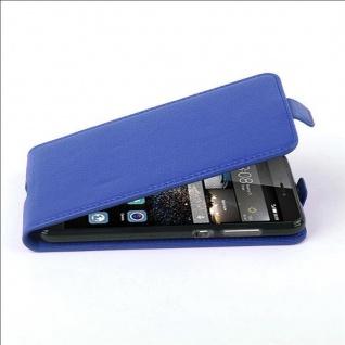 Cadorabo Hülle für Huawei P8 LITE 2017 - Hülle in KÖNIGS BLAU ? Handyhülle aus strukturiertem Kunstleder im Flip Design - Case Cover Schutzhülle Etui Tasche