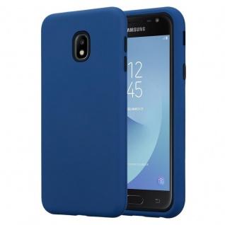 Cadorabo Hülle für Samsung Galaxy J5 2017 in DUNKEL BLAU ? Hybrid Handyhülle mit TPU Silikon Innenseite und 2teiliger Kunststoff Außenseite ? Schutzhülle Hybrid Hardcase Back Case