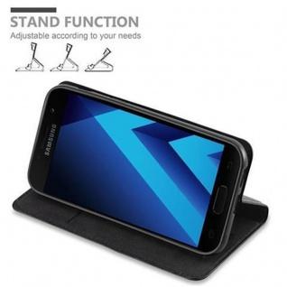Cadorabo Hülle für Samsung Galaxy A3 2017 in NACHT SCHWARZ - Handyhülle mit Magnetverschluss, Standfunktion und Kartenfach - Case Cover Schutzhülle Etui Tasche Book Klapp Style - Vorschau 4