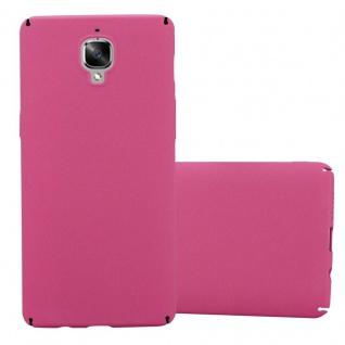 Cadorabo Hülle für OnePlus 3 / 3T in FROSTY PINK - Hardcase Handyhülle aus Plastik gegen Kratzer und Stöße - Schutzhülle Bumper Ultra Slim Back Case Hard Cover