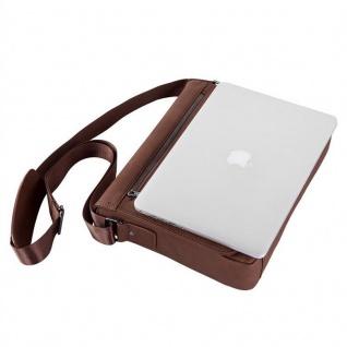 """"""" Cadorabo ? Laptop / Tablet Tasche für 13''"""" Zoll Notebooks aus Kunstleder mit Fächern, Gurt und Tabletfach ? Notebook Umhängetasche Aktentasche Tragetasche Computertasche in DUNKEL BRAUN"""" - Vorschau 5"""