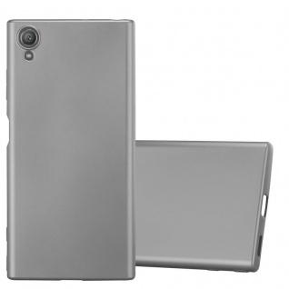 Cadorabo Hülle für Sony Xperia XA1 PLUS in METALLIC GRAU - Handyhülle aus flexiblem TPU Silikon - Silikonhülle Schutzhülle Ultra Slim Soft Back Cover Case Bumper