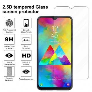 Cadorabo Panzer Folie für Samsung Galaxy M20 - Schutzfolie in KRISTALL KLAR - Gehärtetes (Tempered) Display-Schutzglas in 9H Härte mit 3D Touch Kompatibilität - Vorschau 3