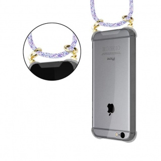 Cadorabo Handy Kette für Apple iPhone 6 PLUS / iPhone 6S PLUS in UNICORN - Silikon Necklace Umhänge Hülle mit Gold Ringen, Kordel Band Schnur und abnehmbarem Etui ? Schutzhülle - Vorschau 4