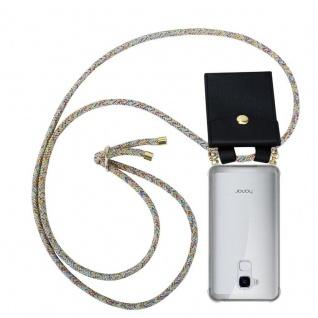 Cadorabo Handy Kette für Honor 5C in RAINBOW - Silikon Necklace Umhänge Hülle mit Gold Ringen, Kordel Band Schnur und abnehmbarem Etui ? Schutzhülle