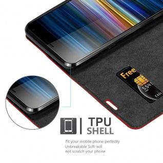 Cadorabo Hülle für Sony Xperia 10 PLUS in APFEL ROT - Handyhülle mit Magnetverschluss, Standfunktion und Kartenfach - Case Cover Schutzhülle Etui Tasche Book Klapp Style - Vorschau 2