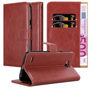 Cadorabo Hülle für LG X Power 2 in WEIN ROT - Handyhülle mit Magnetverschluss, Standfunktion und Kartenfach - Case Cover Schutzhülle Etui Tasche Book Klapp Style