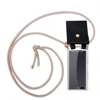 Cadorabo Handy Kette für OnePlus 5 in PERLIG ROSÉGOLD Silikon Necklace Umhänge Hülle mit Gold Ringen, Kordel Band Schnur und abnehmbarem Etui Schutzhülle