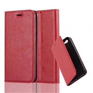 Cadorabo Hülle für HTC One A9S in APFEL ROT - Handyhülle mit Magnetverschluss, Standfunktion und Kartenfach - Case Cover Schutzhülle Etui Tasche Book Klapp Style