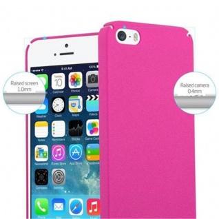Cadorabo Hülle für Apple iPhone 5 / iPhone 5S / iPhone SE in FROSTY PINK - Hardcase Handyhülle aus Plastik gegen Kratzer und Stöße - Schutzhülle Bumper Ultra Slim Back Case Hard Cover - Vorschau 5