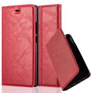 Cadorabo Hülle für ZTE NUBIA Z9 MAX in APFEL ROT - Handyhülle mit Magnetverschluss, Standfunktion und Kartenfach - Case Cover Schutzhülle Etui Tasche Book Klapp Style