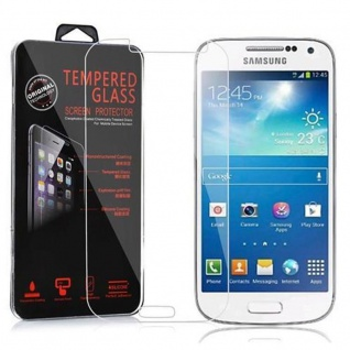 Cadorabo Panzer Folie für Samsung Galaxy S4 MINI - Schutzfolie in KRISTALL KLAR - Gehärtetes (Tempered) Display-Schutzglas in 9H Härte mit 3D Touch Kompatibilität