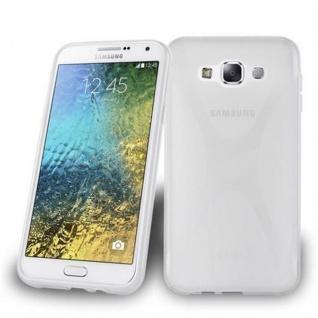 Cadorabo Hülle für Samsung Galaxy E7 in HALB TRANSPARENT ? Handyhülle aus flexiblem TPU Silikon ? Silikonhülle Schutzhülle Ultra Slim Soft Back Cover Case Bumper