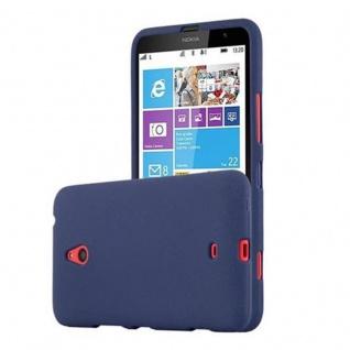 Cadorabo Hülle für Nokia Lumia 1320 in FROST DUNKEL BLAU - Handyhülle aus flexiblem TPU Silikon - Silikonhülle Schutzhülle Ultra Slim Soft Back Cover Case Bumper