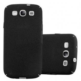 Cadorabo Hülle für Samsung Galaxy S3 / S3 NEO in FROSTY SCHWARZ - Hardcase Handyhülle aus Plastik gegen Kratzer und Stöße - Schutzhülle Bumper Ultra Slim Back Case Hard Cover
