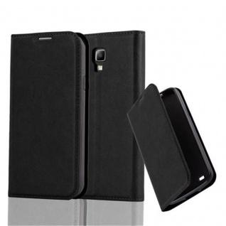 Cadorabo Hülle für Samsung Galaxy S4 ACTIVE in NACHT SCHWARZ - Handyhülle mit Magnetverschluss, Standfunktion und Kartenfach - Case Cover Schutzhülle Etui Tasche Book Klapp Style