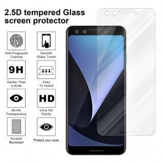 Cadorabo Panzer Folie für Google Pixel 3 - Schutzfolie in KRISTALL KLAR - Gehärtetes (Tempered) Display-Schutzglas in 9H Härte mit 3D Touch Kompatibilität - Vorschau 4