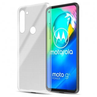 Cadorabo Hülle kompatibel mit Motorola Moto G8 Power in VOLL TRANSPARENT Handyhülle aus flexiblem TPU Silikon Silikonhülle Schutzhülle Ultra Slim Soft Back Cover Case Bumper