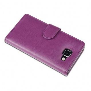 Cadorabo Hülle für Samsung Galaxy A5 2016 in BORDEAUX LILA ? Handyhülle mit Magnetverschluss und 3 Kartenfächern ? Case Cover Schutzhülle Etui Tasche Book Klapp Style - Vorschau 2