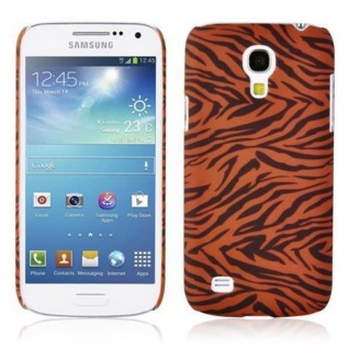 Cadorabo - Hard Cover für Samsung Galaxy S4 MINI - Case Cover Schutzhülle Bumper im Design: BROWN TIGER