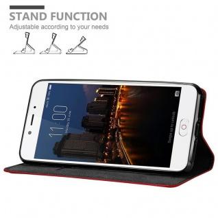Cadorabo Hülle für ZTE Nubia N2 in APFEL ROT Handyhülle mit Magnetverschluss, Standfunktion und Kartenfach Case Cover Schutzhülle Etui Tasche Book Klapp Style - Vorschau 4