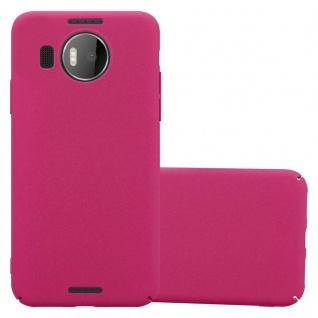 Cadorabo Hülle für Nokia Lumia 950 XL in FROSTY PINK - Hardcase Handyhülle aus Plastik gegen Kratzer und Stöße - Schutzhülle Bumper Ultra Slim Back Case Hard Cover