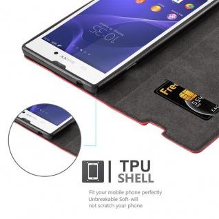 Cadorabo Hülle für Sony Xperia T3 in APFEL ROT Handyhülle mit Magnetverschluss, Standfunktion und Kartenfach Case Cover Schutzhülle Etui Tasche Book Klapp Style - Vorschau 2