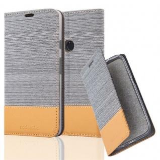 Cadorabo Hülle für Google Pixel 2 XL in HELL GRAU BRAUN - Handyhülle mit Magnetverschluss, Standfunktion und Kartenfach - Case Cover Schutzhülle Etui Tasche Book Klapp Style