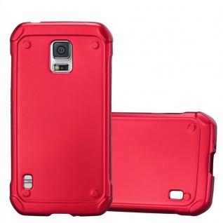 Cadorabo Hülle für Samsung Galaxy S5 Active in METALLIC ROT - Handyhülle aus flexiblem TPU Silikon - Silikonhülle Schutzhülle Ultra Slim Soft Back Cover Case Bumper