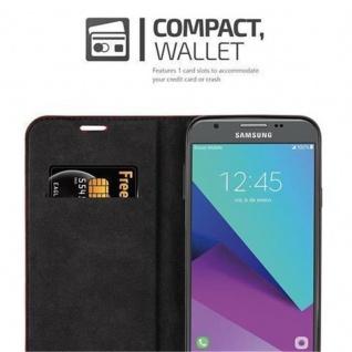 Cadorabo Hülle für Samsung Galaxy J3 2017 US Version in APFEL ROT - Handyhülle mit Magnetverschluss, Standfunktion und Kartenfach - Case Cover Schutzhülle Etui Tasche Book Klapp Style - Vorschau 4