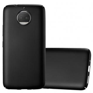 Cadorabo Hülle für Motorola MOTO G5S PLUS in METALL SCHWARZ - Hardcase Handyhülle aus Plastik gegen Kratzer und Stöße - Schutzhülle Bumper Ultra Slim Back Case Hard Cover