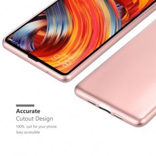 Cadorabo Hülle für Xiaomi Mi Mix 2 in METALLIC ROSÉ GOLD - Handyhülle aus flexiblem TPU Silikon - Silikonhülle Schutzhülle Ultra Slim Soft Back Cover Case Bumper - Vorschau 5