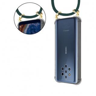 Cadorabo Handy Kette für Nokia 10 in ARMEE GRÜN Silikon Necklace Umhänge Hülle mit Gold Ringen, Kordel Band Schnur und abnehmbarem Etui Schutzhülle - Vorschau 5