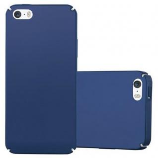Cadorabo Hülle für Apple iPhone 5 / iPhone 5S / iPhone SE in METALL BLAU - Hardcase Handyhülle aus Plastik gegen Kratzer und Stöße - Schutzhülle Bumper Ultra Slim Back Case Hard Cover