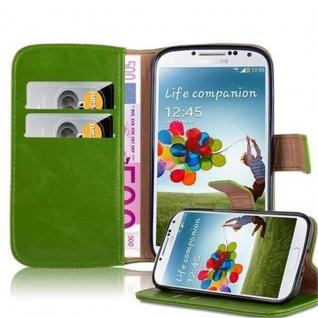 Cadorabo Hülle für Samsung Galaxy S4 in GRAS GRÜN Handyhülle mit Magnetverschluss, Standfunktion und Kartenfach Case Cover Schutzhülle Etui Tasche Book Klapp Style