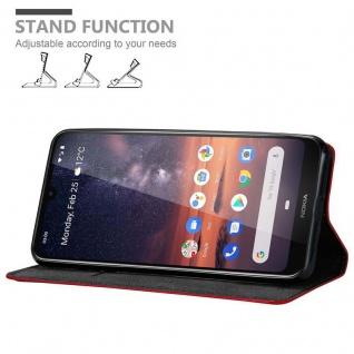 Cadorabo Hülle für Nokia 3.2 in APFEL ROT Handyhülle mit Magnetverschluss, Standfunktion und Kartenfach Case Cover Schutzhülle Etui Tasche Book Klapp Style - Vorschau 2