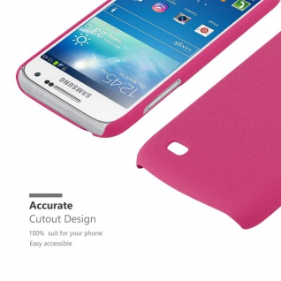 Cadorabo Hülle für Samsung Galaxy S4 MINI in FROSTY PINK - Hardcase Handyhülle aus Plastik gegen Kratzer und Stöße - Schutzhülle Bumper Ultra Slim Back Case Hard Cover - Vorschau 5