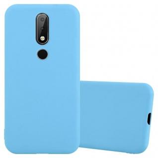 Cadorabo Hülle für Nokia X6 / Nokia 6.1 PLUS in CANDY BLAU Handyhülle aus flexiblem TPU Silikon Silikonhülle Schutzhülle Ultra Slim Soft Back Cover Case Bumper