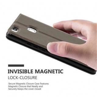 Cadorabo Hülle für Huawei P9 LITE in STEIN BRAUN ? Handyhülle mit Magnetverschluss, Standfunktion und 2 Sichtfenstern ? Case Cover Schutzhülle Etui Tasche Book Klapp Style - Vorschau 4