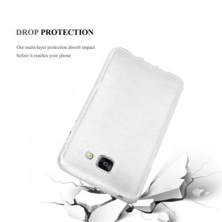 Cadorabo Hülle für Samsung Galaxy A5 2016 in SILBER - Handyhülle aus flexiblem TPU Silikon - Silikonhülle Schutzhülle Ultra Slim Soft Back Cover Case Bumper - Vorschau 3