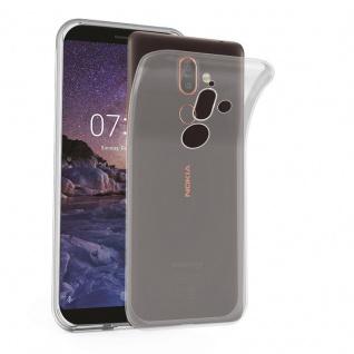 Cadorabo Hülle für Nokia 7 PLUS in VOLL TRANSPARENT - Handyhülle aus flexiblem TPU Silikon - Silikonhülle Schutzhülle Ultra Slim Soft Back Cover Case Bumper